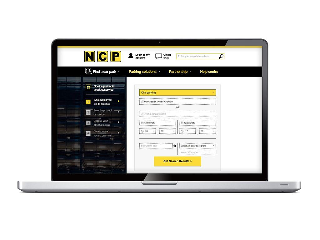NCP Pre-book parking service